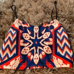Flying tomato patriotic Crop Top new size l